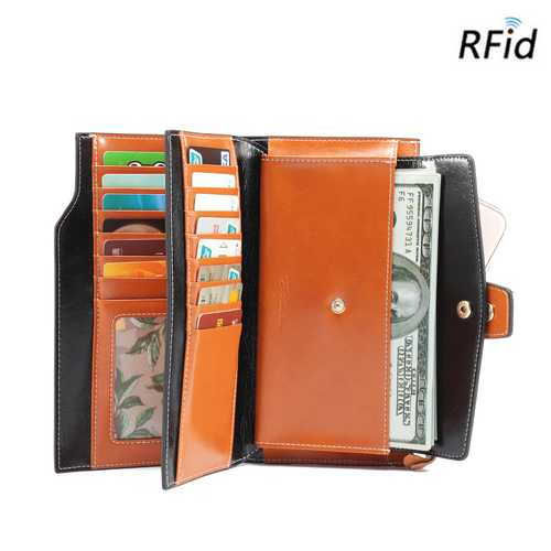 Brenice Fashion Casual Life Wallet With Lightweight Wearable Wallet Large Capacity
