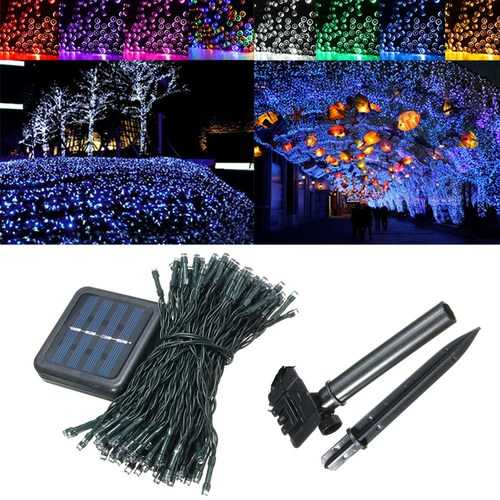 22M Solar Powered 200LED Fairy Holiady String Light Outdoor Wedding Christmas Room Party Lamp