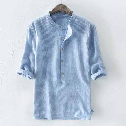Men's 100% Cotton Loose Half Sleeve Casual T-shirts