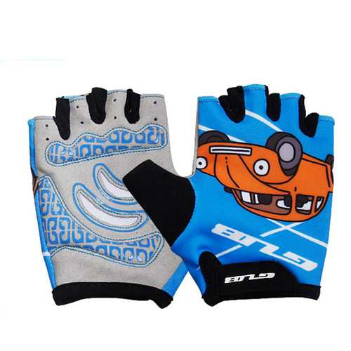 GUB S022 Children Cycling Half Finger Gloves Lycra Anti-Slip Gloves for Banlance and Pedal Bike Bicycle Boys Girls