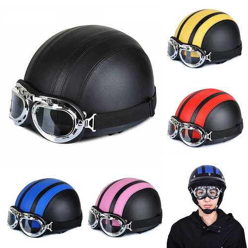 BIKIGHT ABS Bike Scooter Helmet Head Protection With Goggles Detachable Soft Helmet