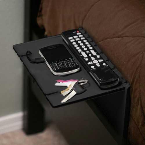Black Holder Sofa Bed Bedside Foldable Attachment Shelf Bracket for Storage