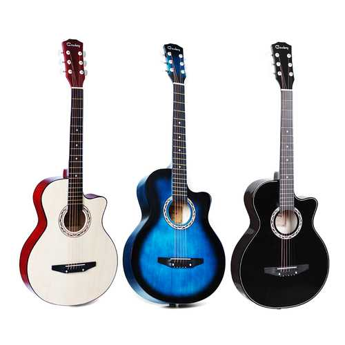 38 Inch Acoustic Classic Guitar Basswood Body Musical Instrument For Beginners Student