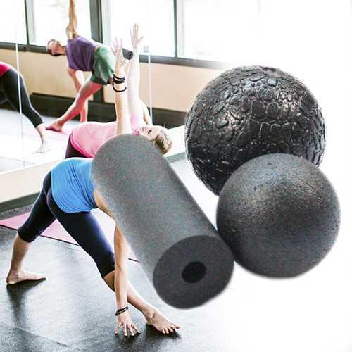 1 Set Fitness Massage Bumpy Ball Glossy Yoga Column Ball Gym Sports Roller Shoulder Back Legs Rehabilitation