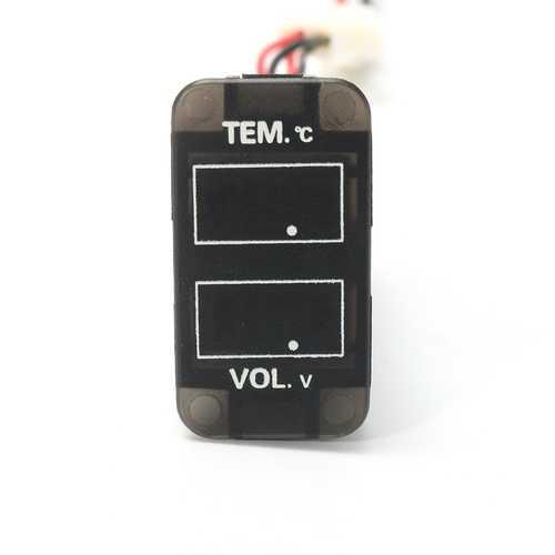 LED Digital Voltmeter Temperature Gauge Meter For Toyota 4Runner FJ Cruiser