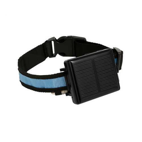 RF-V34 Solar GPS LBS WiFi Tracker 9000mAh Alarm Waterproof with Collar for Dog Cow Sheep Free APP