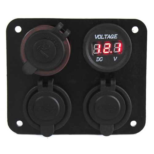 12V 24V Dual USB Interface Four In One Car Cigarette Lighter Socket