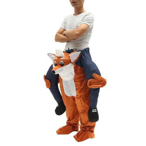 Carry Me Bear Fox Mascot Costume Pants Ride On Piggy Back Adults Fancy Dress
