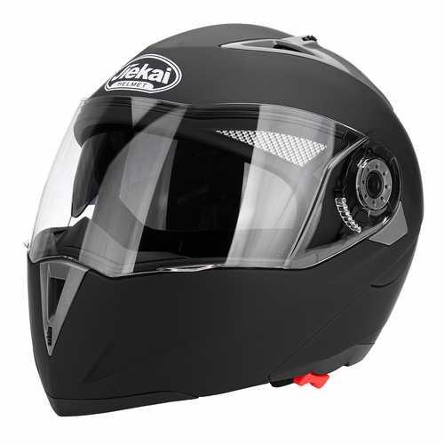 Motorcycle Open Face Helmet Dual Visor Flip Up Adult Full Face Motocross Dirt Bike M/L/XL