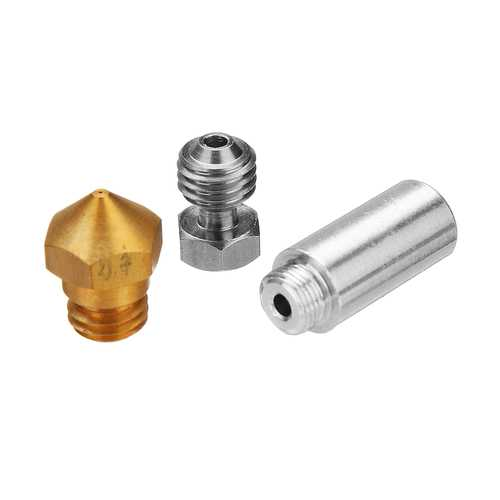 0.4mm Brass Nozzle MK10 All Metal Hotend Kit for 3D Printer 1.75mm Filament