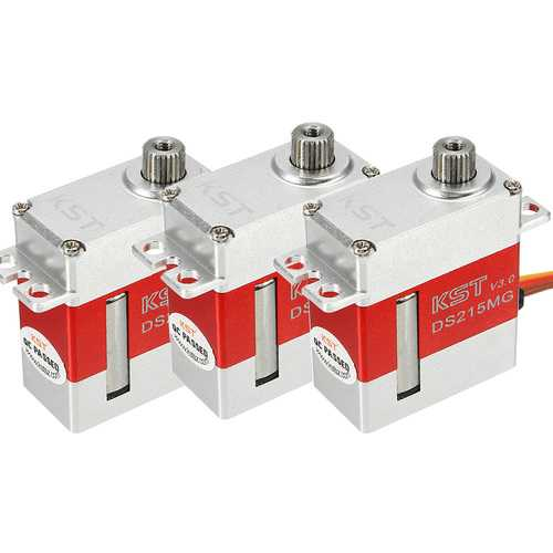 3PCS KST DS215MG V3 Stainless Steel Gear Digital Servo For 450 380 480 500 RC Helicopter
