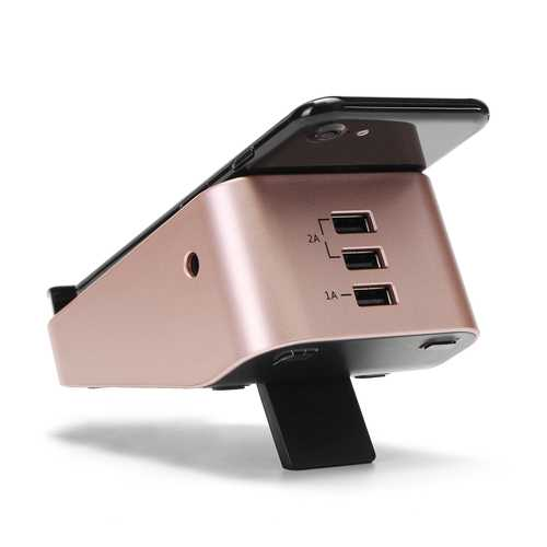10W 3 USB Ports Qi Wireless Charger Fast Charging Pad Phone Holder AC Adapter for Mobile Phone