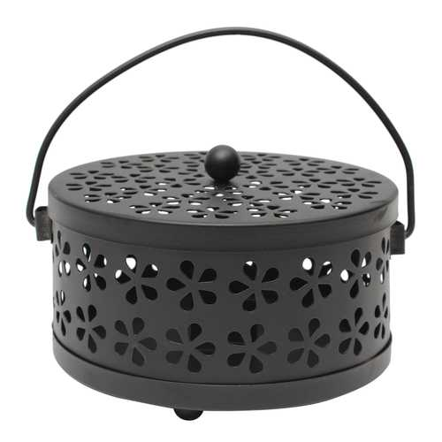 Galvanized Steel Mosquito Mozzie Coil Holder Burner Repellant Home Art Decor Mosquito Dispeller