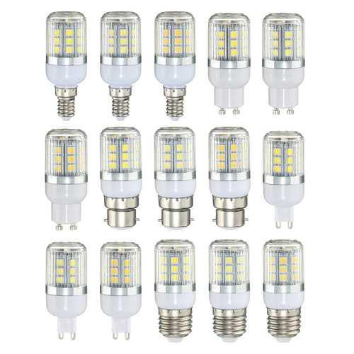 AC220V E27 E14 GU10 B22 G9 3W Warm/Cool/Natural White SMD5050 LED Corn Light Bulb for Home Decor