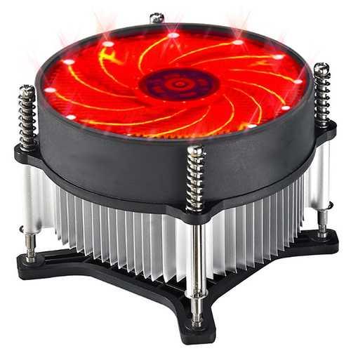 12V CPU Cooling Fan Blue Red Green LED Light Cooler Heatsink For Intel 115X Series 1150 1155 1156 11