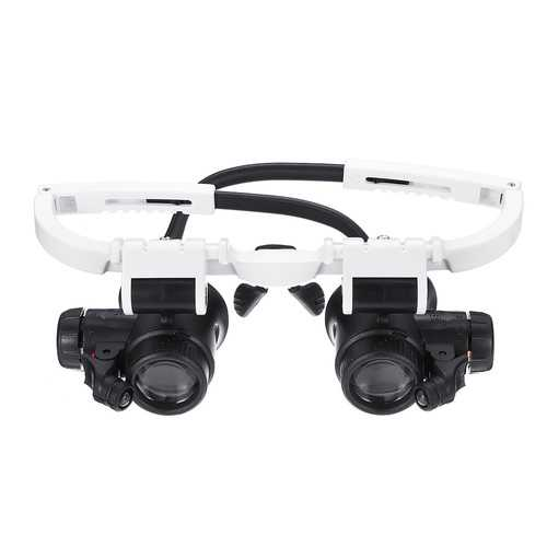 23X Binocular Eyepiece Magnifier Magnifying Glasses Jeweler Watch Repair Kit Adjustable LED Light
