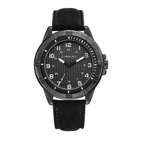 CRRJU 2113 Waterproof Casual Style Leather Strap Men Watch