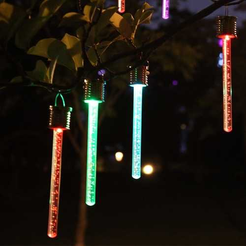 4PCS 19CM Solar Power Light Control Waterproof Colorful LED Lawn Holiday Night Lamp for Yard Garden