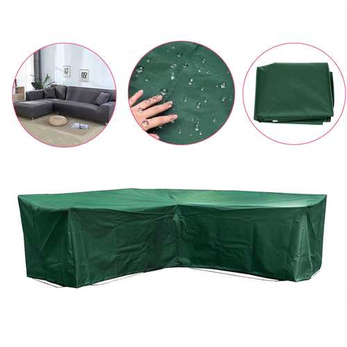 Garden Outdoor Furniture Corner Rattan L Shape Slipcover Waterproof Sofa Sectional Cover