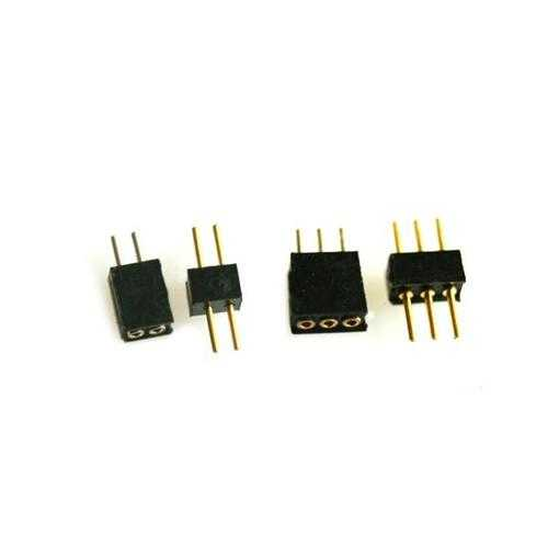 1.27mm Pitch 2P 3P 2/3 Pin Round Needle Plug Socket Connector For Brushed Motor FPV RC Airplane