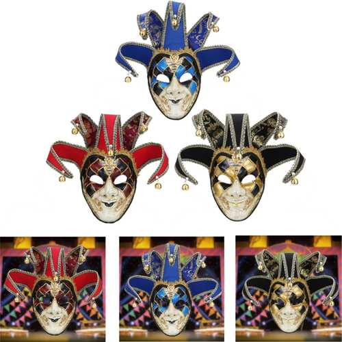 Red Black Blue Clown Mask Halloween European American Atmosphere Dress Mask