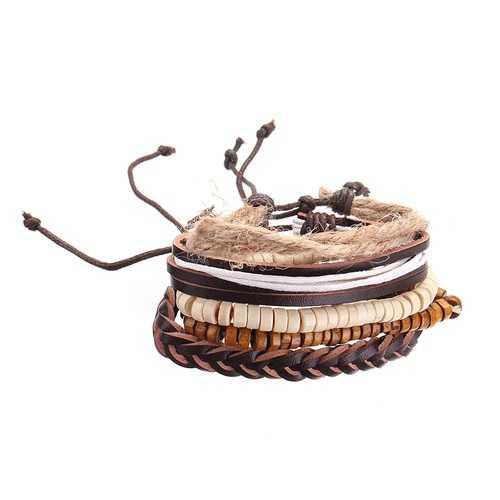 Adjustable Multilayer Vintage Bracelet Wooden Beaded Bangle