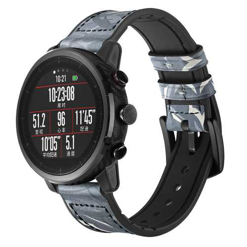 Bakeey AMAZFIT Huami Smart Sport Watch 1/2 Generation Silicone Sticker Layer Leather Watch Band