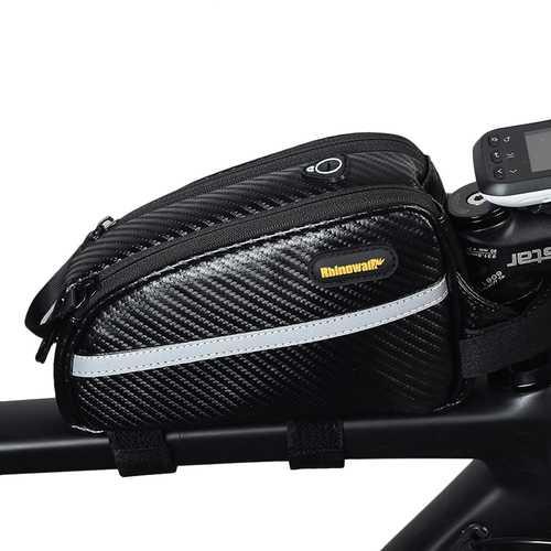 BIKIGHT Nylon Waterproof Bike Bicycle Frame Front Tube Cycling Storage Bag For MTB Road Bike