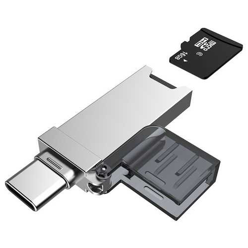 DM CR006 2-in-1 Type-C USB TF Micro SD Card Reader for Phones Tablets Laptops