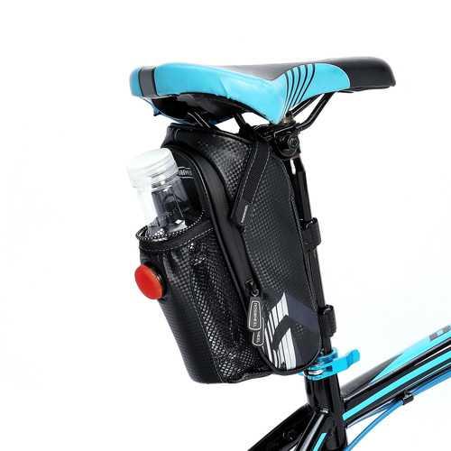 BIKIGHT Bike Bicycle Saddle Seatpost Tail Bag Waterproof Bottle Holder Cycling Bag For MTB Road Bike