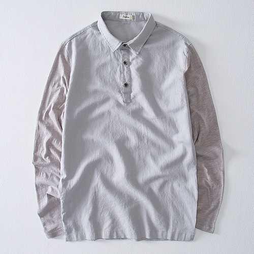 Men's Breathable Linen Cotton Casual T-Shirts