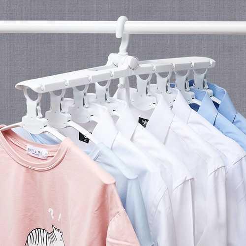 Honana Home 360 Degree Rotation Multifunctional Foldable 8 in 1 Cloth Hanger