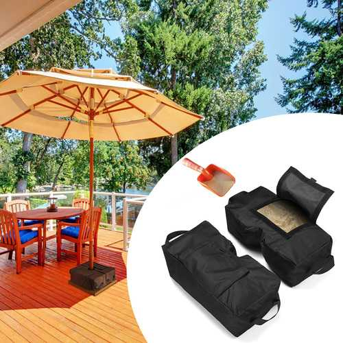 2 x Tent Fixed Sandbag Sun Shelter Umbrella Weight Bag Outdoor Camping Tent Sand Bag