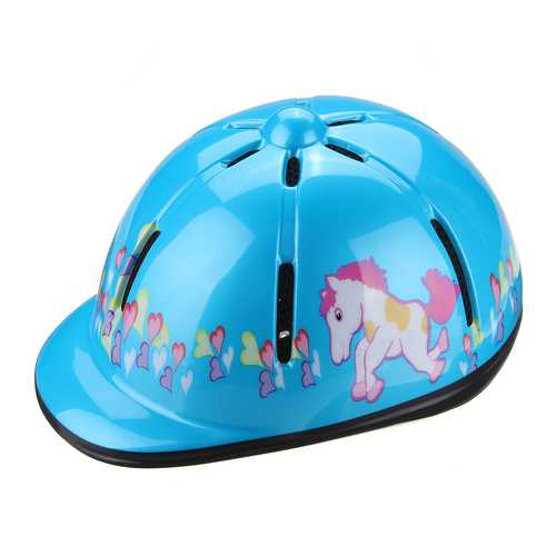 Adjustable Horse Riding Safe Hat Unicorn Racing Cap Ventilated Helmet For Kids Childs Cycling Helmet