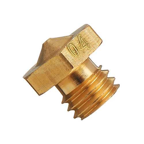 0.4mm M6 Thread Screw Mixed/Dual-Color Single Head Nozzle for 3D Printer 1.75mm Filament