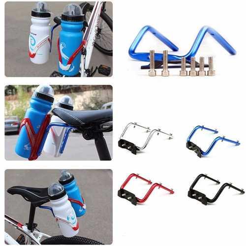 BIKIGHT Bicycle Seat Post Bottle Rack Converter Cycling Bike Saddle Back Double Water Bottle Holder