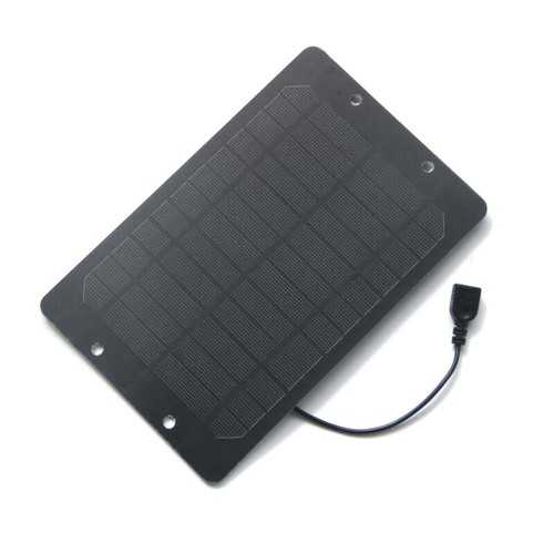 6W 6V 175*270mm Monocrystalline Silicon Solar Panel with USB Port