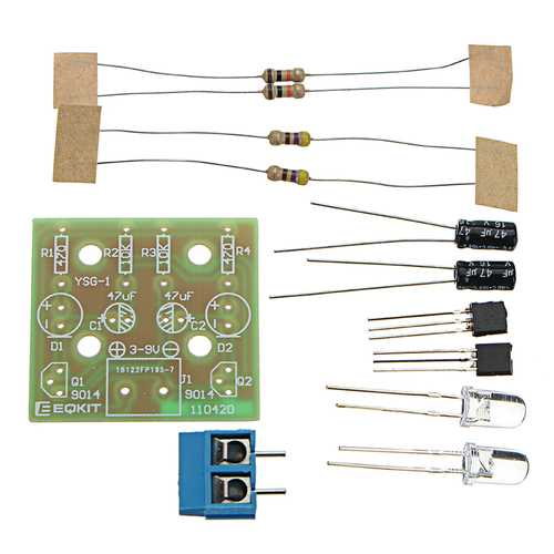 10pcs Bright DIY LED Flash Kit Simple 3-9V Electronic Production Kit