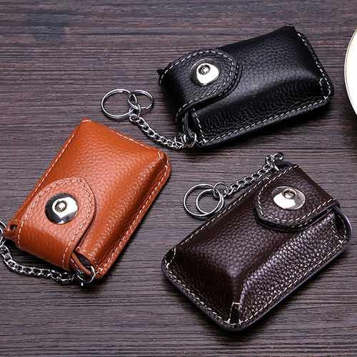 Men Genuine Leather Car key Case/Bag