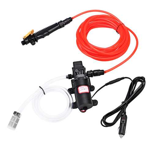 100W 1.0Mpa 12/24V High Electric Pressure Car Washer Wash Pump Water Sprayer Kit