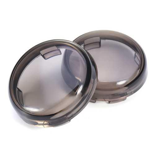 2pcs Lens Cover Turn Signal 1157/1156 Type LED Inserts Lights For Harley Davidson