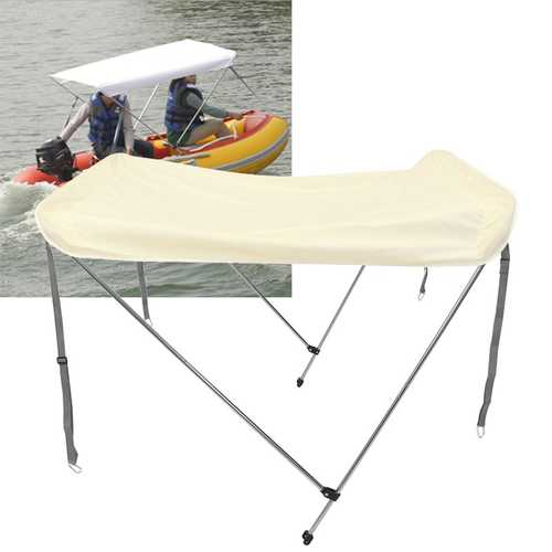 2-4 Person Inflatable Boat Foldable Anti-UV Tent Sunshade Awning Top Cover Tent Sun Rain Shelter
