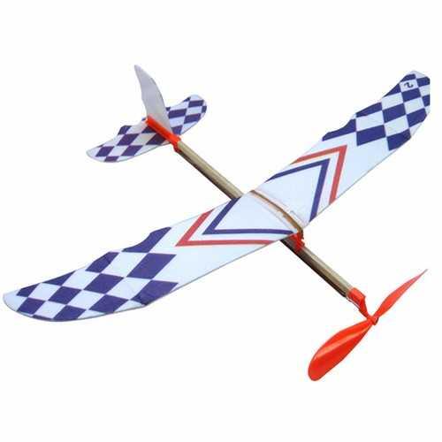 10 PCS DIY Foam Elastic Powered Glider Plane Toy Thunderbird Flying Model Aircraft Toy