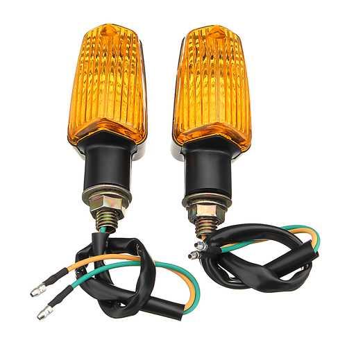 2pcs Motorcycle Motorbike Flasher Turn Signal Lamp Indicator LED Lights Universal