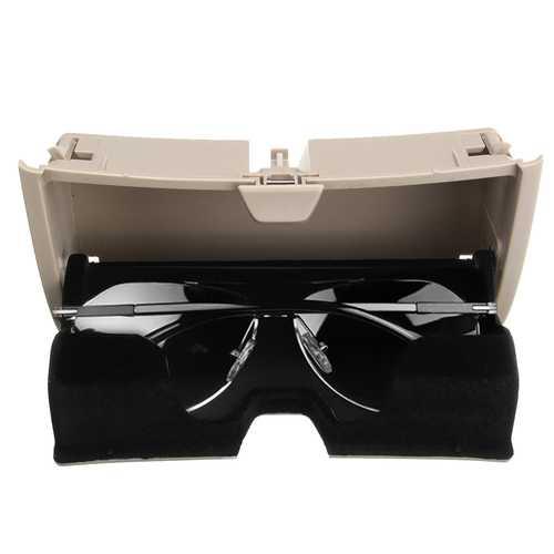 Car Front Sun Glasses Case Box Holder Plastic Storage Box Beige for BMW X5 X6 F15 F16 2014-2017