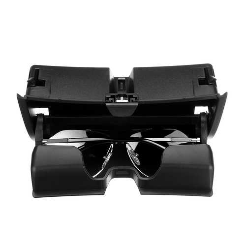 Car Front Sun Glasses Case Box Organizer Holder Plastic Storage Box for BMW X5 X6 F15 F16 2014-2017