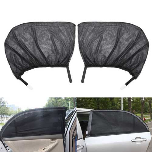 Pair Car Rear Window Sunshade Mesh Curtain Shied Cover UV Protector Universal