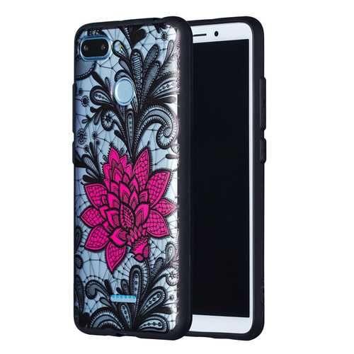 Enkay Emboss Lace Flower Shockproof PC TPU Back Cover Protective Case for Xiaomi Redmi 6 / Redmi 6A