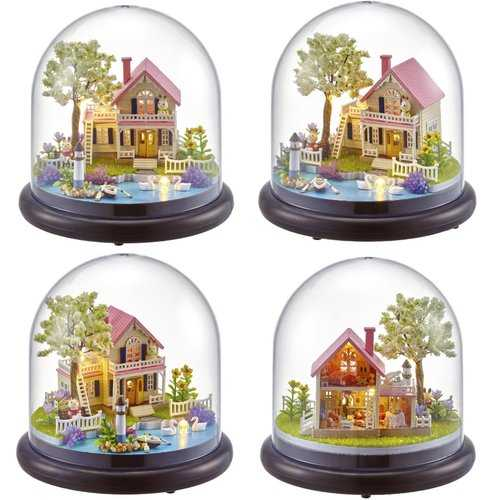 DIY Music Box Dolls House Dollhouse Handmade Miniature Kids Kits Toy Gift