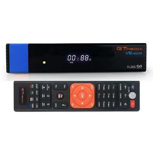 GTmedia V8 NOVA DVB-S2 Satellite TV Signal 1080P HD H.265 Built-in WIFI CCcam Receiver with AV Port Time Display